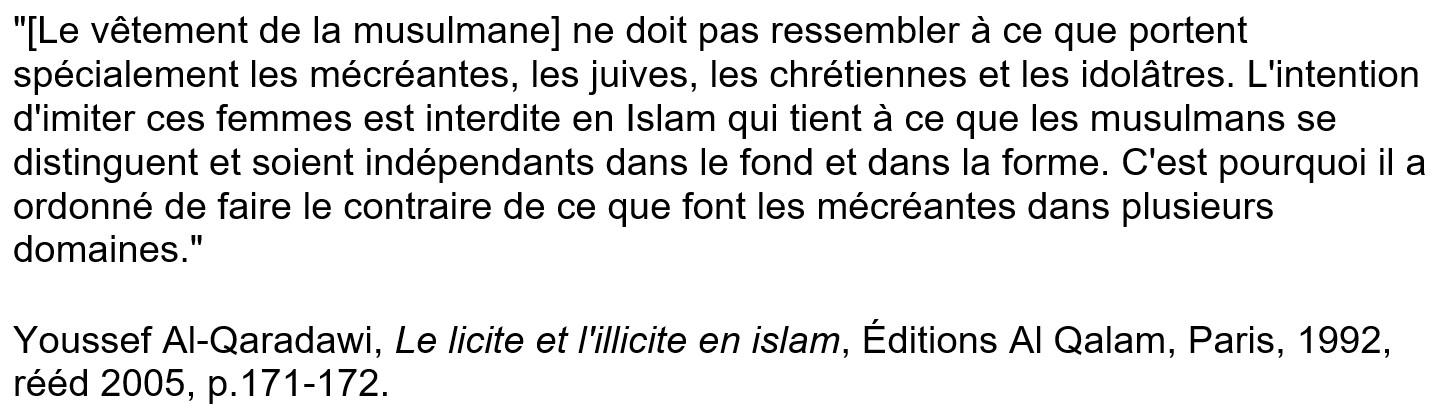 Le vêtement de la musulmane selon Youssef Al-Qaradawi