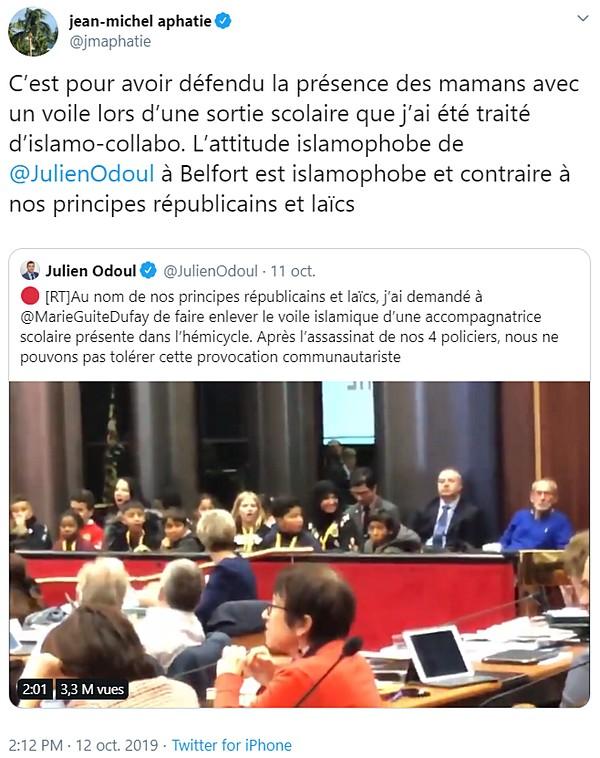 Jean-Michel Apathie va à rebours des valeurs républicaines en prétendant les défendre.
