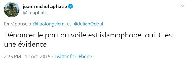 Jean-Michel Apathie se fait le défenseur du sexisme islamiste.